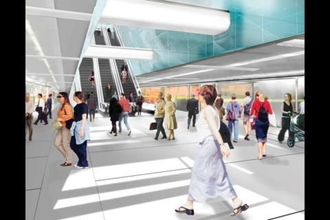 A visualisation of Crossrail's new Paddington station